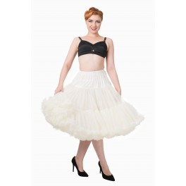Banned Apparel Lifeforms Petticoat Ivory Long 26""