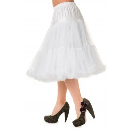 Banned Apparel Lifeforms Petticoat White Long 26""