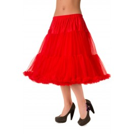 Banned Apparel Lifeforms Petticoat Red Long 26""