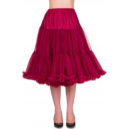 Banned Apparel Lifeforms Petticoat Burgundy Long 26""
