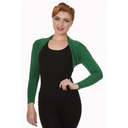 Banned Apparel Green Folded Bolero