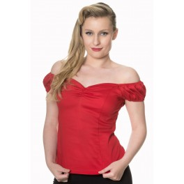 Banned Apparel Red Winnie Top