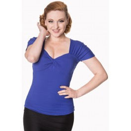 Banned Apparel She Who Dares Top Royal Blue