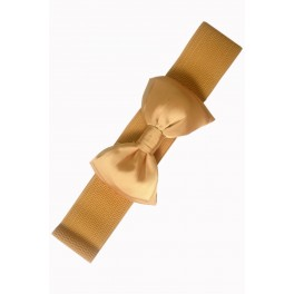 Banned Apparel Mustard Bella Retro Bow Belt