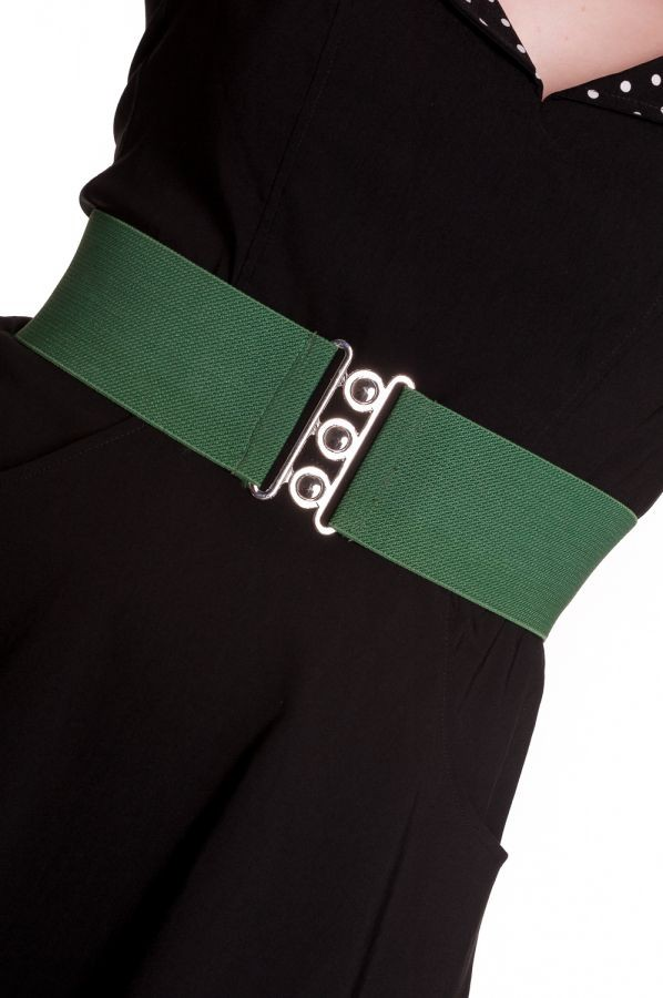 Hell Bunny Forest Green Retro Belt