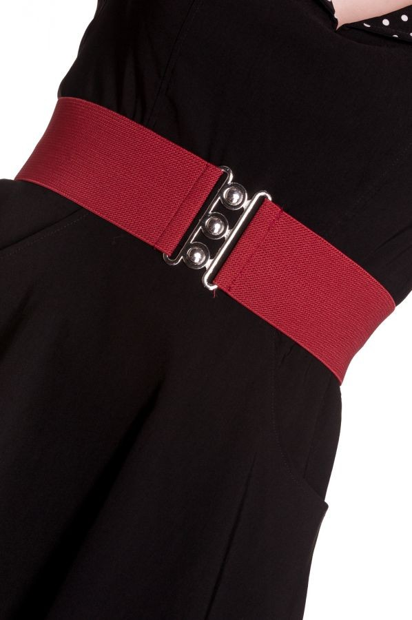 Hell Bunny Burgundy Retro Belt