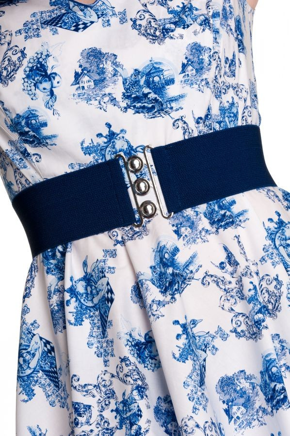 Hell Bunny Navy Blue Retro Belt