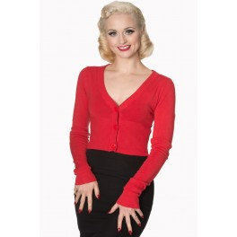 Banned Retro Let's Go Dancing Cropped Cardigan
