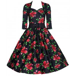 Hell Bunny Eternity 50's Dress - Black