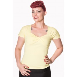 Banned Apparel top She Who Dares Yellow