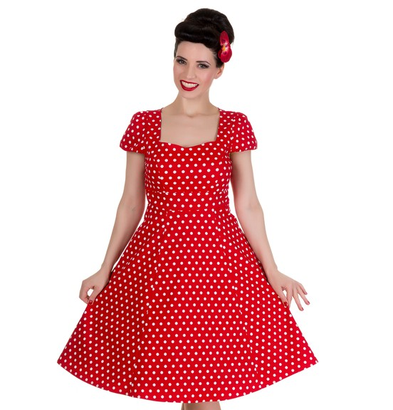 Dolly & Dotty šaty Claudia Red Polka