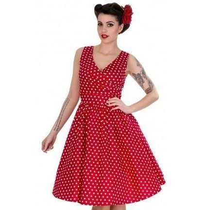 Dolly & Dotty šaty May - Red & White