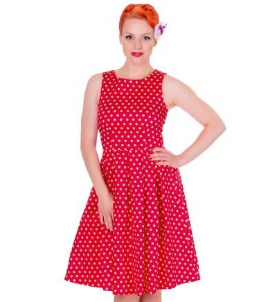 Dolly & Dotty retro šaty Lola - Red & White