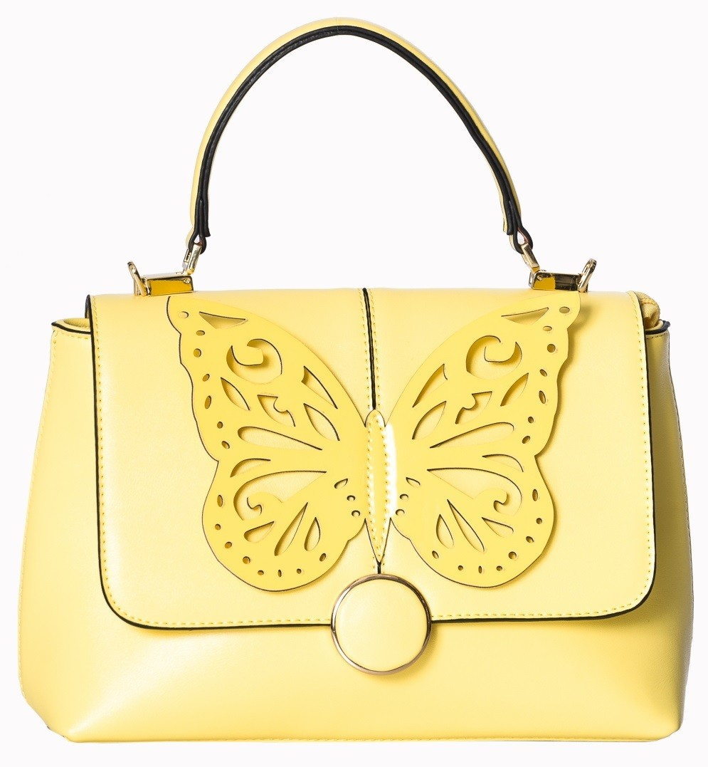 Banned Apparel Yellow Papilio Handbag
