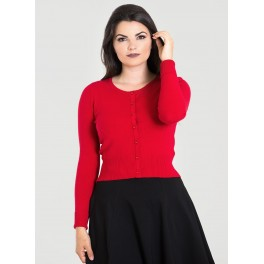 Hell Bunny Red Paloma Cardigan