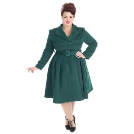 H&R London Green Vintage Coat