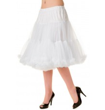 Banned Apparel Starlite Petticoat White Medium 23""