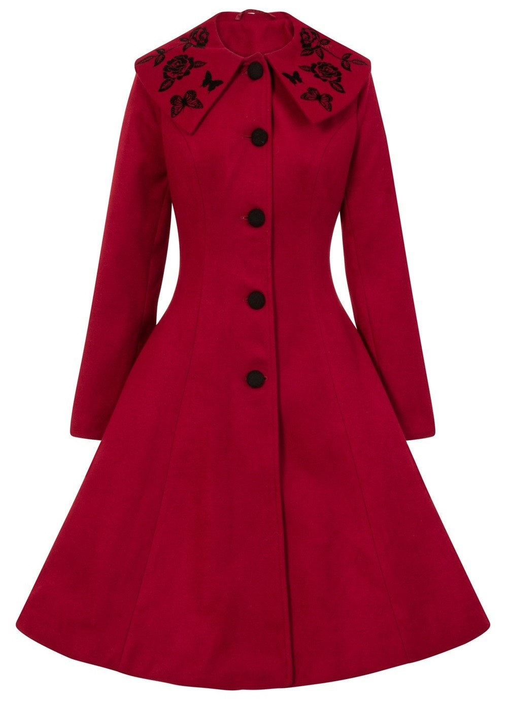 Hell Bunny Red Hermione Coat