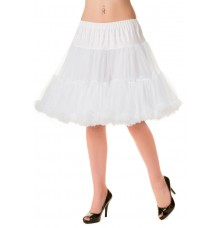 Banned Apparel Walkabout Petticoat White Short 20""