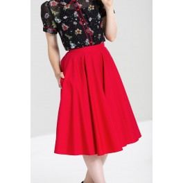 Hell Bunny Red Paula Skirt
