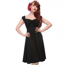 Collectif Clothing Black Dolores Doll Dress