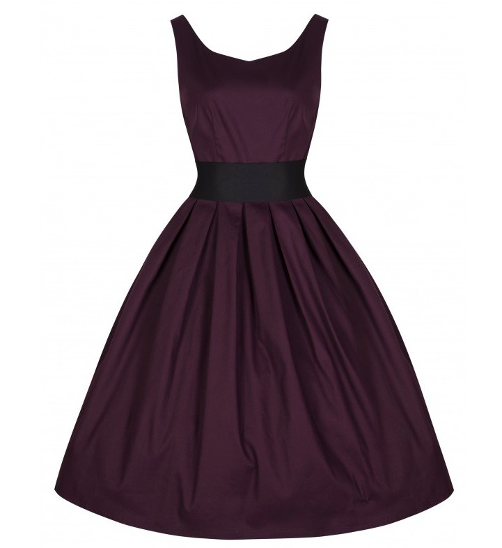 Lindy Bop Damson Lana Dress