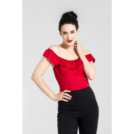 Hell Bunny Rio Top in Dark Red