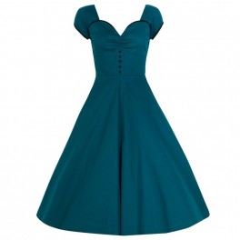Lindy Bop retro šaty Bella - Teal