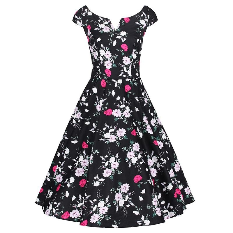 Hell Bunny Black Belinda 50's Dress