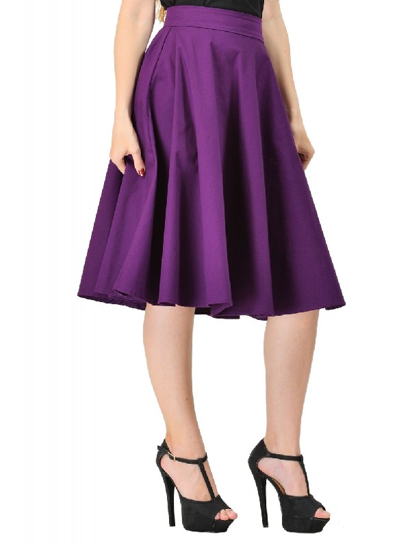 Dolly and Dotty Purple Shirley Skirt