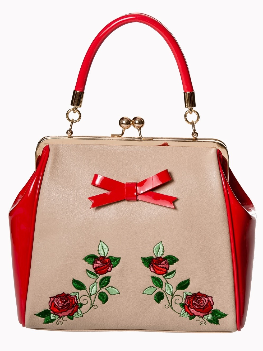 Banned Apparel Fantasy in Red - Taupe Bag