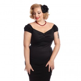 Collectif Clothing Black Dolores Top