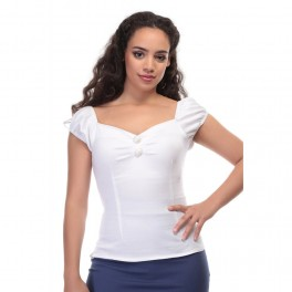 Collectif Clothing White Dolores Top