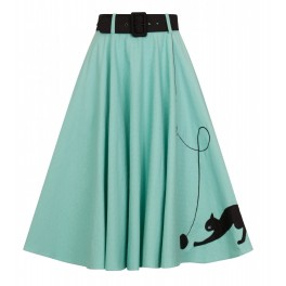 Collectif Clothing Kitty Cat 50's Skirt