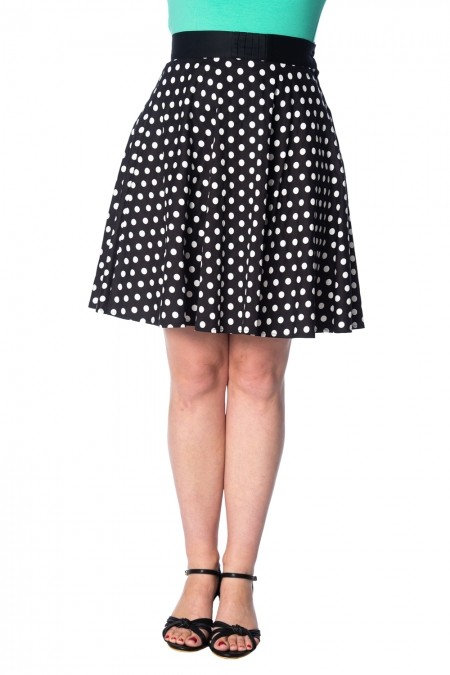Banned Apparel Polka Love Skirt