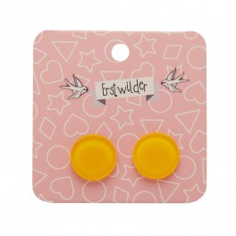 Essentials Circle Studs - Bubble Resin - Yellow