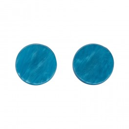 Essentials Circle Studs - Textured Resin - Blue