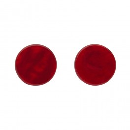 Essentials Circle Studs - Textured Resin - Red
