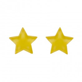 Essentials Star Studs - Bubble Resin - Yellow