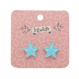 Essentials Star Studs - Bubble Resin - Blue