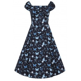 Collectif Midnight Butterfly Dolores Doll Dress