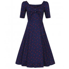 Collectif Dolores Half Sleeve Ladybird Doll Dress