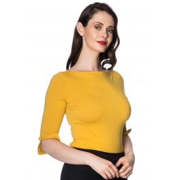 Banned Apparel Oonagh Basic Top in Mustard