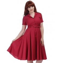 Collectif Raspberry Caterina Dress