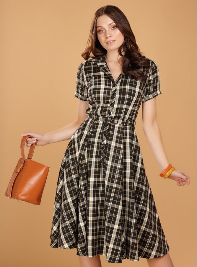 Collectif Caterina Geek Check Dress