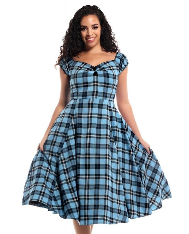 Collectif Raven Check Dolores Doll Dress