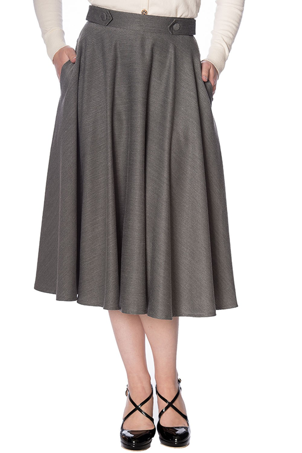 Banned Retro Grey Di Di Skirt