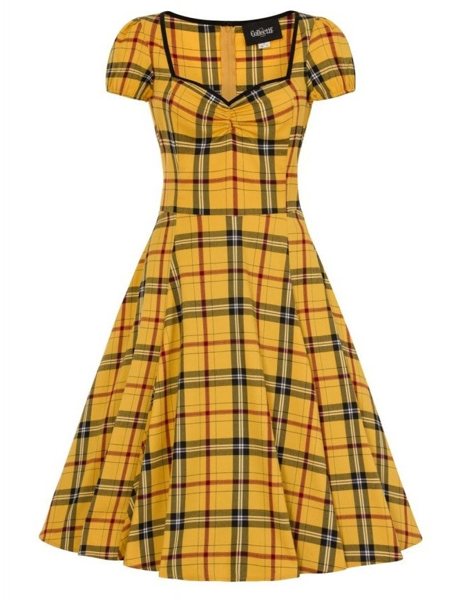 Collectif Mimi Clueless Check Doll Dress