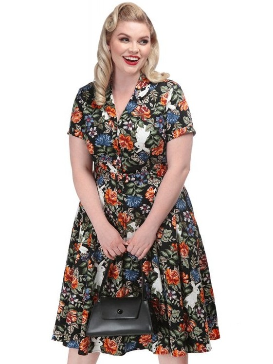Collectif Forest Floral Caterina Dress