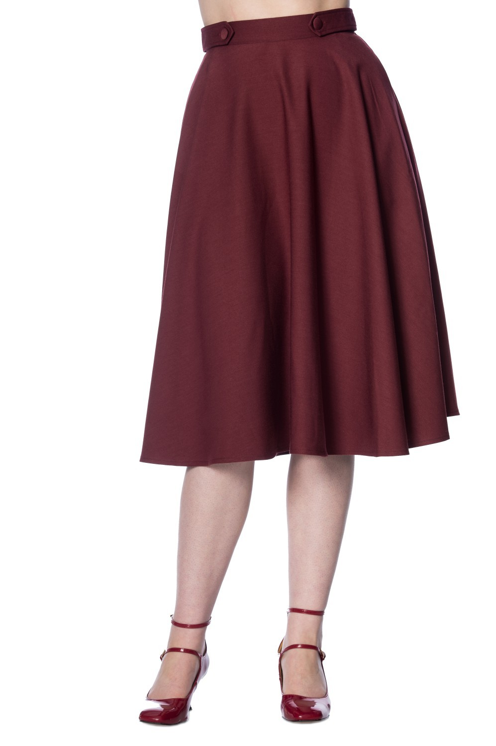 Banned Apparel Burgundy Di Di Skirt